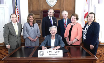 October 3, 2018, 3-6pm, Governor Kay Ivey signs the 2018 Mediation Week Proclamation.
